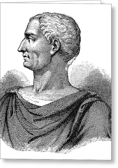 1st Century B.c. Greeting Cards - Julius Caesar (100 B.c.-44 B.c.) Greeting Card by Granger