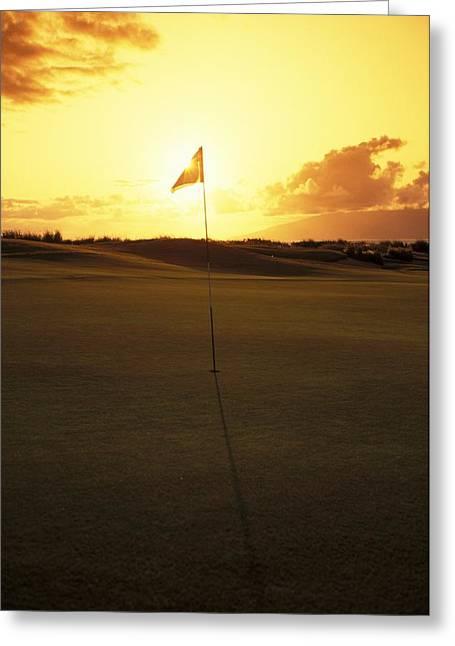 Putt Greeting Cards - Kapalua Golf Club Greeting Card by Carl Shaneff - Printscapes
