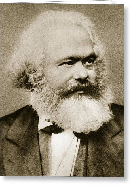 Communism Greeting Cards - Karl Marx Greeting Card by Unknown