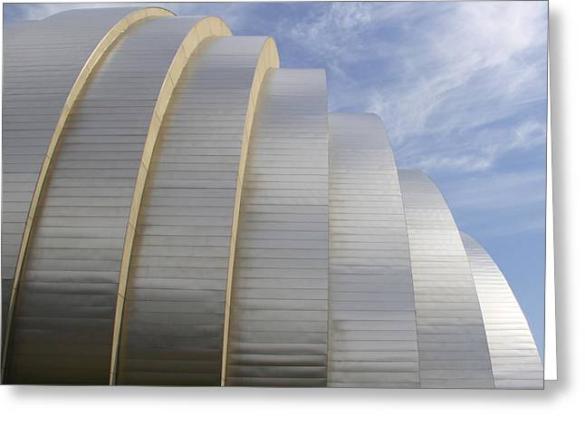 Kansas City Digital Art Greeting Cards - Kauffman Center for Performing Arts Greeting Card by Mike McGlothlen