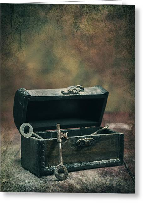 Casket Greeting Cards - Keys Greeting Card by Joana Kruse