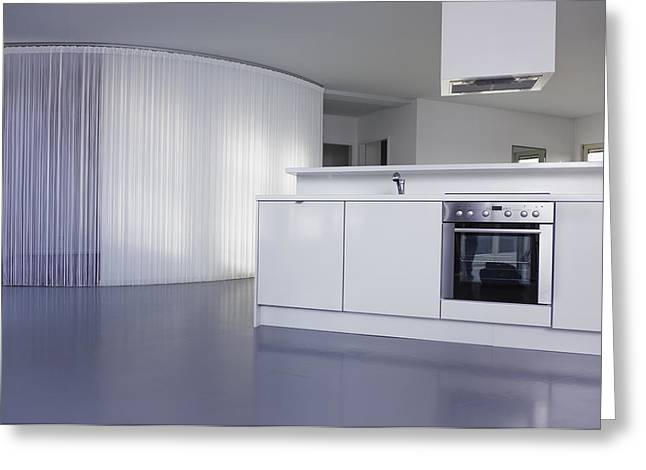 Residential Structure Greeting Cards - Kitchen Of A Modern Living Loft Space Greeting Card by Willie Thomas