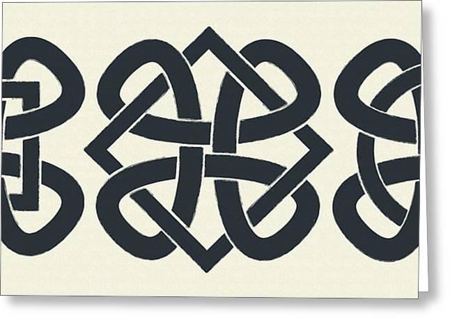 Classic Tattoo Greeting Cards - 3 Knots Greeting Card by Igor Kislev