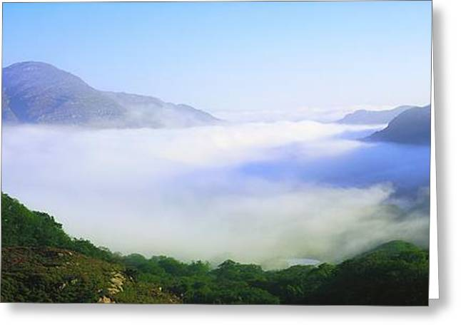 Foggy Day Greeting Cards - Ladies View, Killarney, Co Kerry Greeting Card by The Irish Image Collection