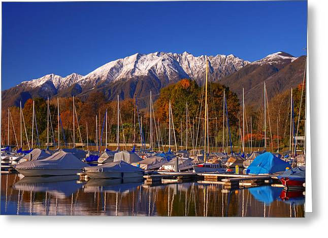 Winter Travel Photographs Greeting Cards - Lago Maggiore Greeting Card by Joana Kruse