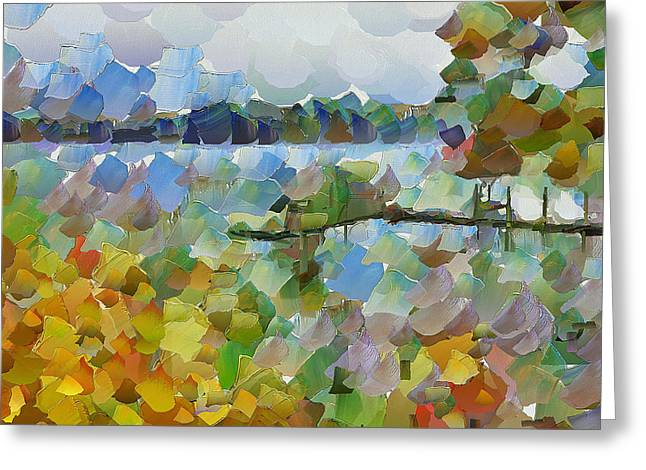 Lithuania Greeting Cards - Lake View Greeting Card by Yury Malkov