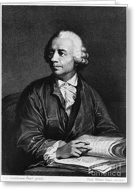 18th Century Greeting Cards - Leonhard Euler (1707-1783) Greeting Card by Granger