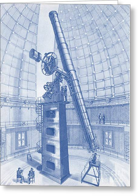 Telescope Dome Greeting Cards - Lick Observatory, Mount Hamilton, Ca Greeting Card by Science Source