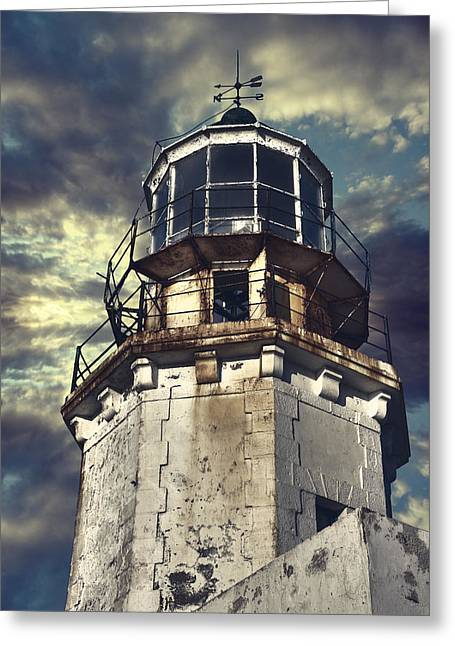 Rose Tower Greeting Cards - Lighthouse Greeting Card by Joana Kruse