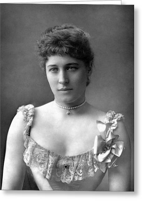 Langtry Greeting Cards - Lillie Langtry (1852-1929) Greeting Card by Granger