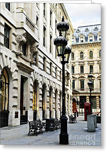 Townhouses Greeting Cards - London street Greeting Card by Elena Elisseeva
