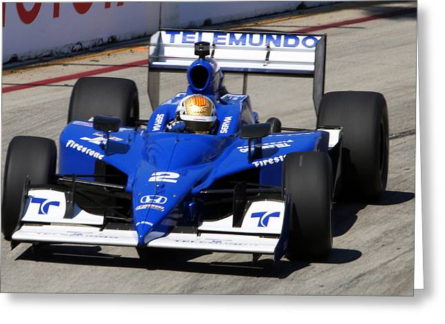 Indy Car Greeting Cards - Long Beach Greeting Card by Steve Parr
