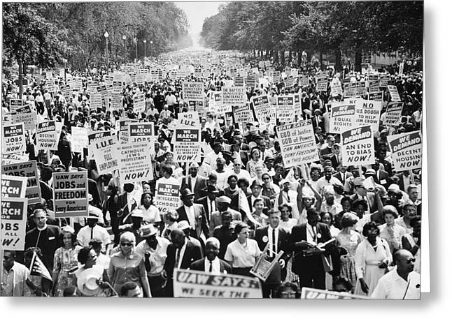 March On Washington. 1963 Greeting Card by Granger