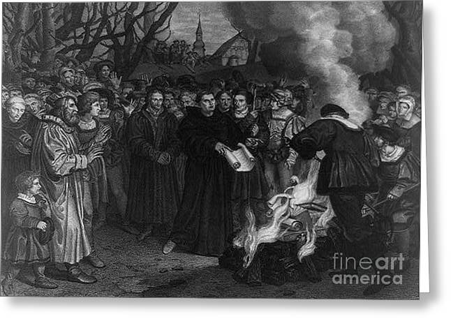 Reformer Greeting Cards - Martin Luther, German Theologian Greeting Card by Photo Researchers