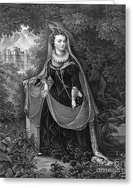 Strangling Greeting Cards - Mary Queen Of Scots Greeting Card by Photo Researchers