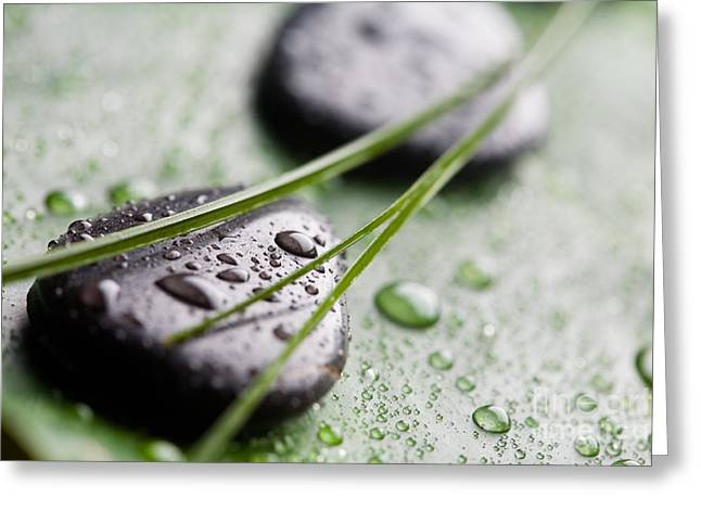 Wellbeing Greeting Cards - Massage stones Greeting Card by Kati Molin