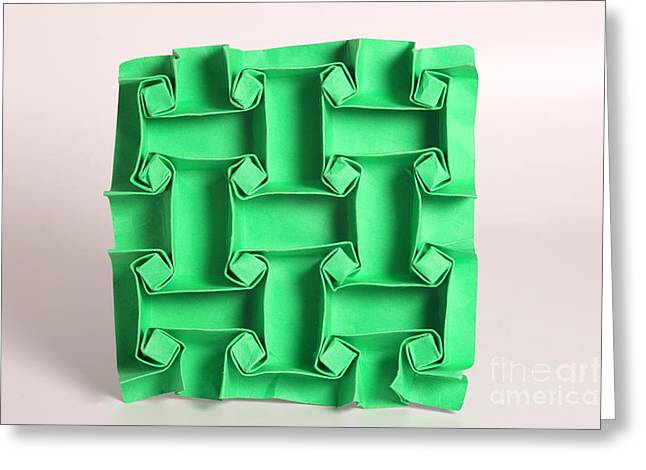 Surface Design Greeting Cards - Mathematical Origami Greeting Card by Ted Kinsman