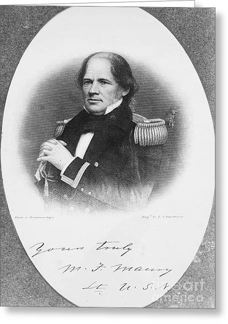 Autograph Greeting Cards - Matthew Fontaine Maury Greeting Card by Granger