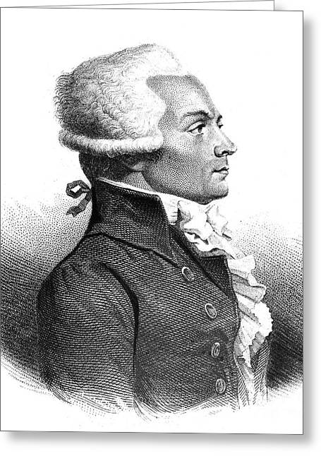 18th Century Greeting Cards - Maximilien Robespierre Greeting Card by Granger