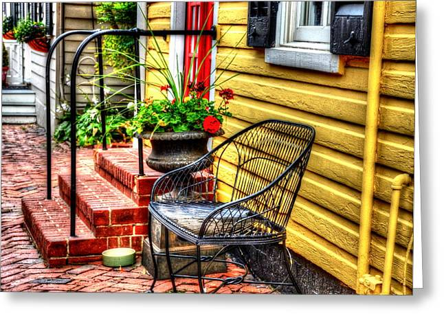 Annapolis Maryland Greeting Cards - Mellow Yellow Greeting Card by Debbi Granruth