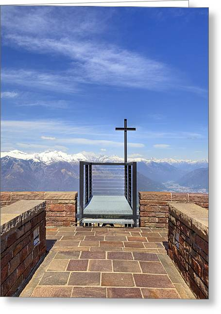 Mario Botta Botta Greeting Cards - Monte Tamaro Greeting Card by Joana Kruse