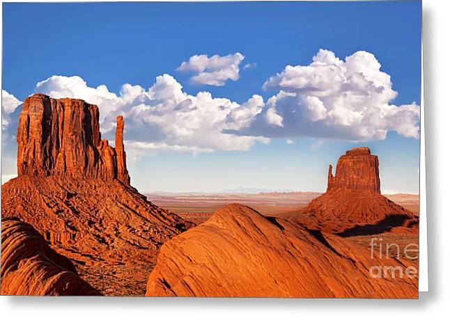 Native Stone Greeting Cards - Monument Valley Greeting Card by Jane Rix