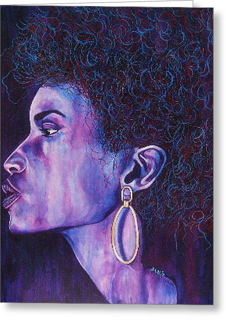 African-american Mixed Media Greeting Cards - Mood Greeting Card by Shahid Muqaddim