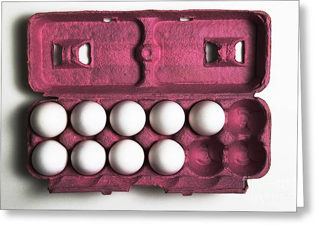Problem Greeting Cards - 3 More Eggs Equals A Dozen Greeting Card by Photo Researchers, Inc.