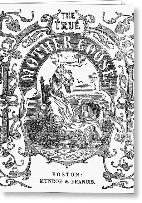 Mother Goose Greeting Cards - Mother Goose, 1833 Greeting Card by Granger