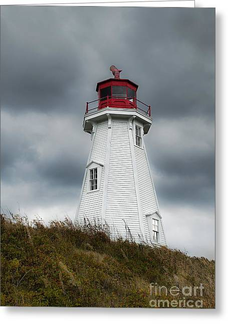Campobello Island Greeting Cards - Mulholland Lighthouse Greeting Card by John Greim