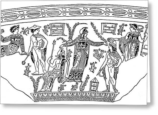 Mythology: Perseus Greeting Card by Granger