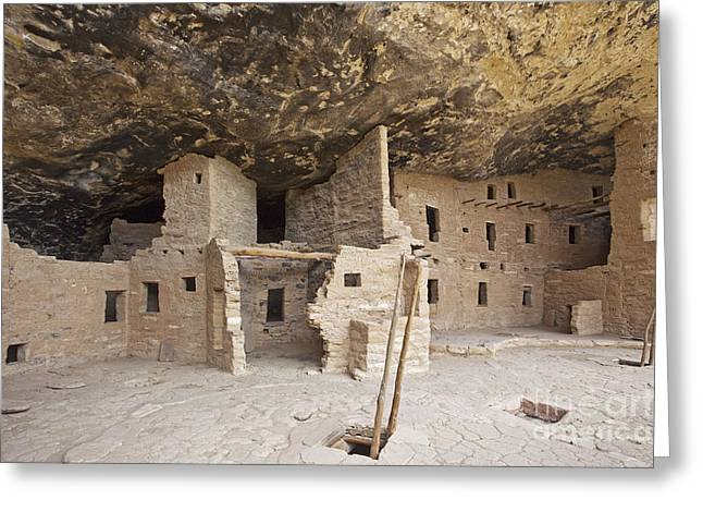Adobe Greeting Cards - Native American Cliff Dwellings Greeting Card by Bryan Mullennix