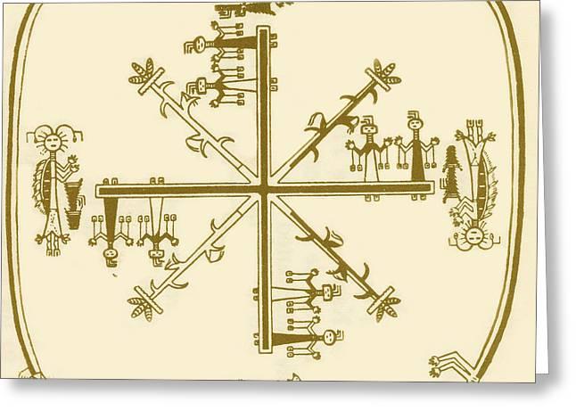 Swastika Greeting Cards - Navaho Swastika Greeting Card by Science Source