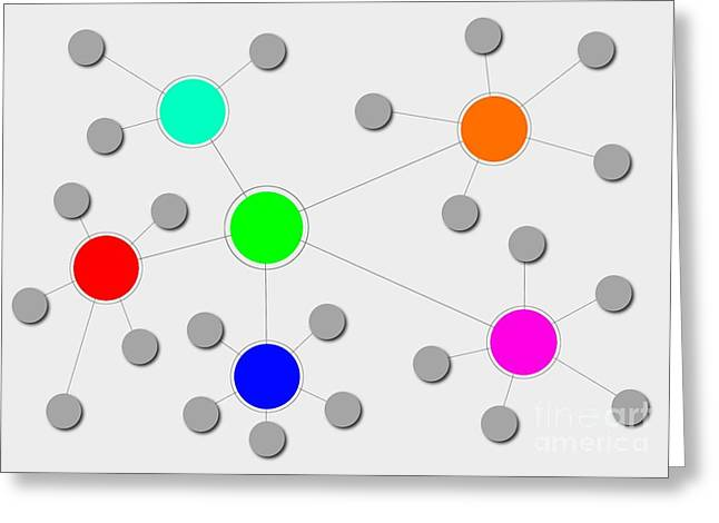 Social Relations Greeting Cards - Network Greeting Card by Henrik Lehnerer