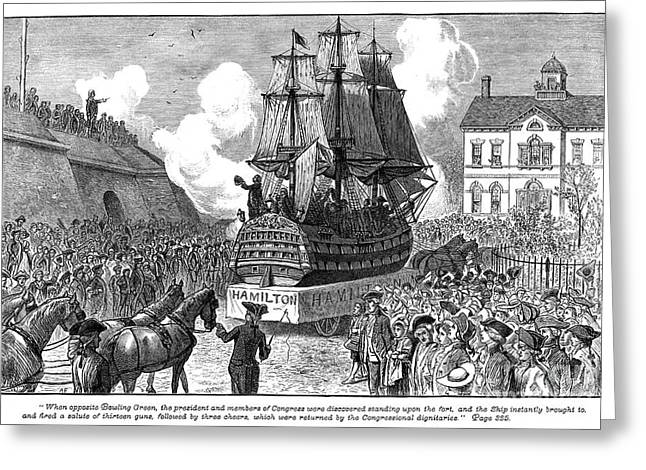 Constitutional Convention Greeting Cards - New York: Parade, 1788 Greeting Card by Granger