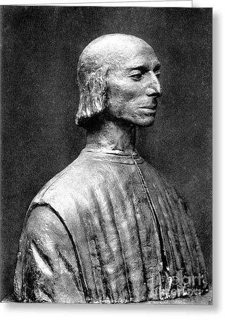 Statue Portrait Greeting Cards - Niccolo Machiavelli Greeting Card by Granger