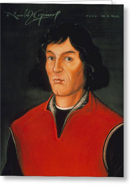 Copernicus Greeting Cards - Nicolaus Copernicus, Polish Astronomer Greeting Card by Detlev Van Ravenswaay