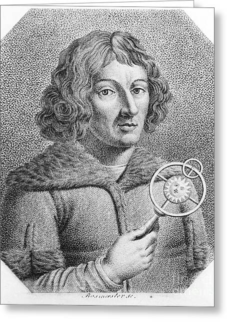 Copernicus Greeting Cards - Nicolaus Copernicus, Polish Astronomer Greeting Card by Omikron