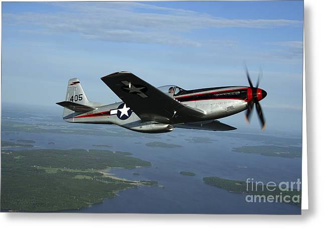 North American P-51 Cavalier Mustang Greeting Card by Daniel Karlsson