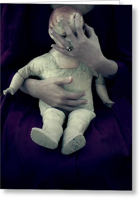 Ancient Jewelry Photographs Greeting Cards - Old Doll Greeting Card by Joana Kruse