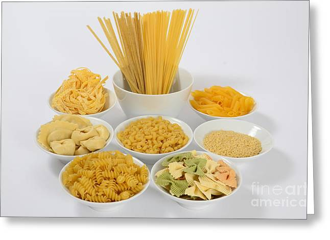 Noodles Greeting Cards - Pasta Greeting Card by Photo Researchers, Inc.