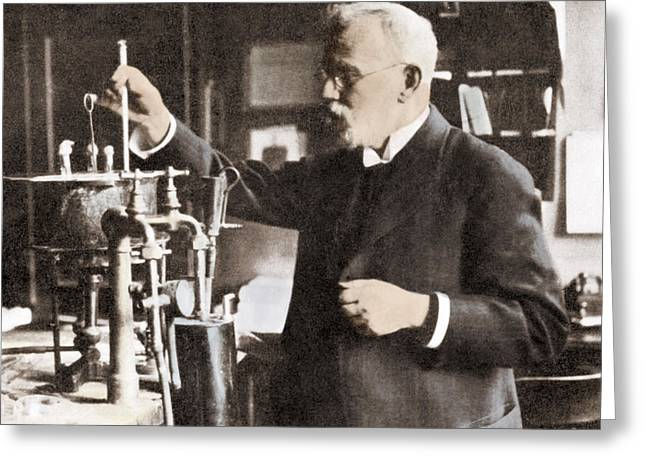 Nobel Recipient Greeting Cards - Paul Ehrlich, German Immunologist Greeting Card by Science Source