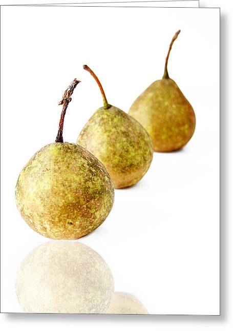 3 Pears Greeting Card by Darren Fisher