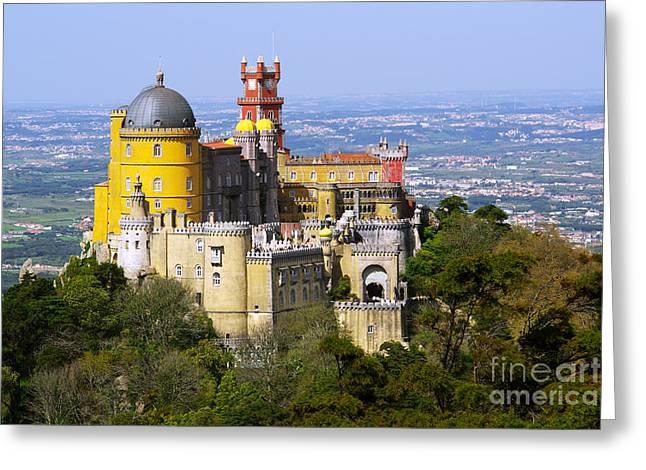 Moorish Greeting Cards - Pena Palace Greeting Card by Carlos Caetano