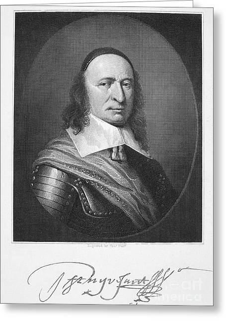 Autograph Greeting Cards - Peter Stuyvesant Greeting Card by Granger
