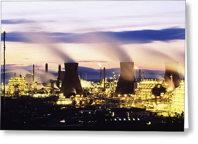 Petrochemical Greeting Cards - Petrochemical Plant Greeting Card by Jeremy Walker