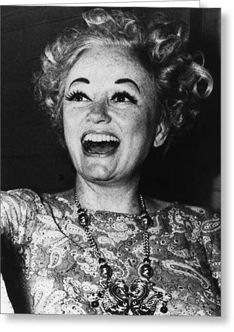 Eyebrow Greeting Cards - Phyllis Diller (1917- ) Greeting Card by Granger