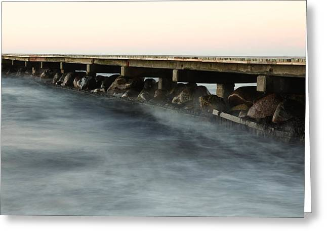 Stein Greeting Cards - Pier Greeting Card by Falko Follert