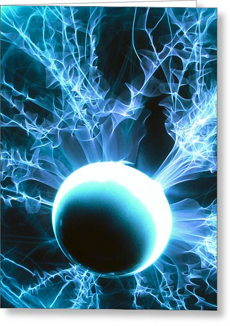 Plasma Greeting Cards - Plasma Globe Greeting Card by Pasieka