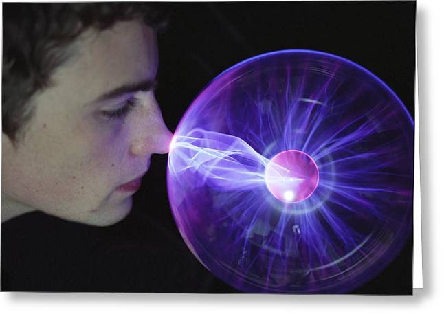 Plasma Greeting Cards - Plasma Sphere Greeting Card by Lawrence Lawry